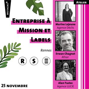 Atelier - Entreprise à Mission et Labels
